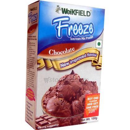 WEIKFIELD CHOCOLATE ICE CREAM MIX POWDER 100 GM